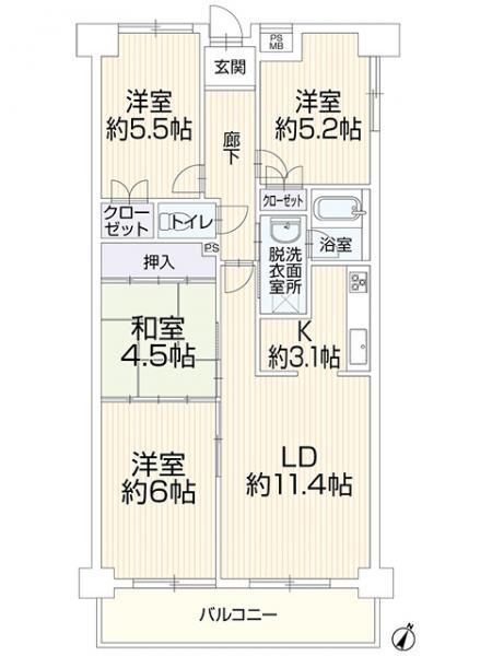 中古マンション 名古屋市緑区大高町 JR東海道本線(熱海〜米原)大高駅 1499万円