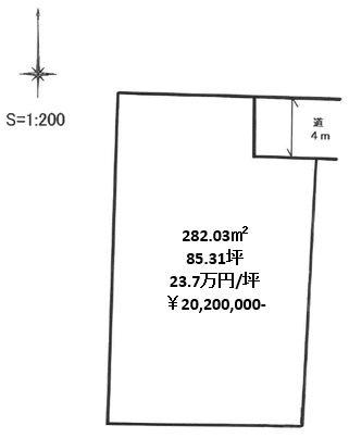 土地 岡山市中区さい東町1丁目 山陽本線高島駅 2020万円