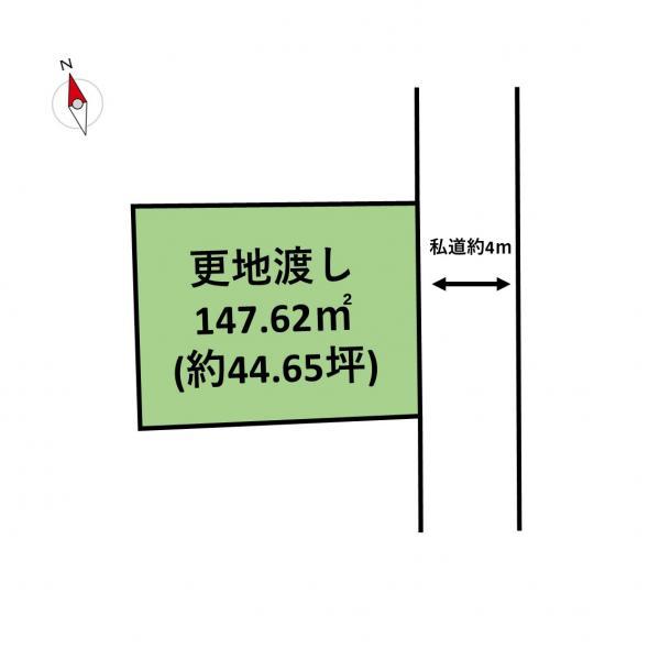 土地 岡山市中区御成町 岡山電軌東山本線東山駅 1900万円