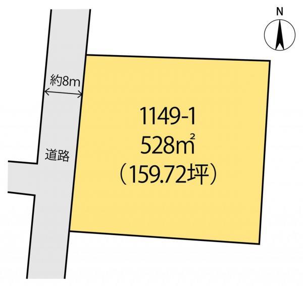 土地 館山市国分1148番1 JR内房線館山駅 1600万円