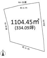 土地 稲敷郡河内町金江津 JR成田線滑河駅 290万円