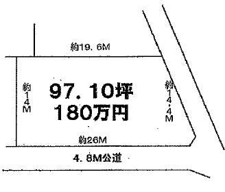 土地 茨城県土浦市永井 JR常磐線(取手~いわき)土浦駅 180万円