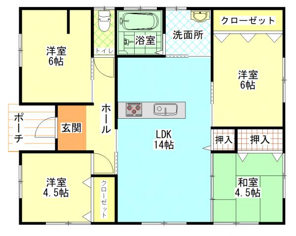 新築戸建 都城市平塚町 JR日豊本線五十市駅 1680万円