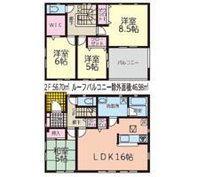 新築戸建 秋田市東通観音前 JR奥羽本線秋田駅 2690万円