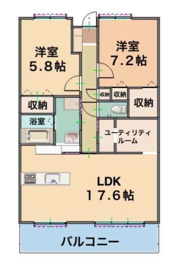 中古マンション 霧島市国分中央5丁目 JR日豊本線国分駅 1980万円