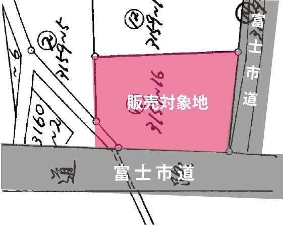 土地 富士市中之郷3159-16 富士川駅 850万円