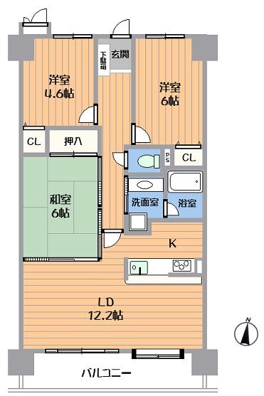 中古マンション 春日井市中新町2丁目 名鉄小牧線味鋺駅 1480万円