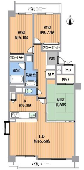 中古マンション 春日井市上田楽町 名鉄小牧線小牧駅 1380万円