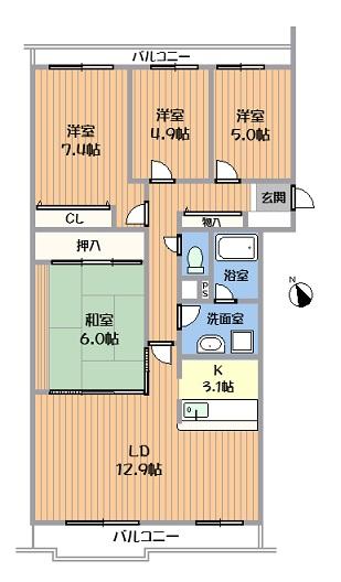 中古マンション 春日井市気噴町北2丁目 JR中央本線高蔵寺駅 1380万円