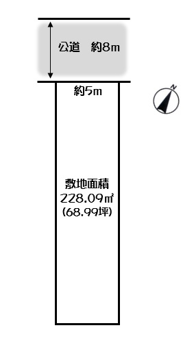 土地 美濃市加治屋町 長良川鉄道美濃市駅 980万円