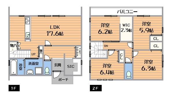 新築戸建 春日井市町屋町 JR中央本線勝川駅 3780万円~3980万円
