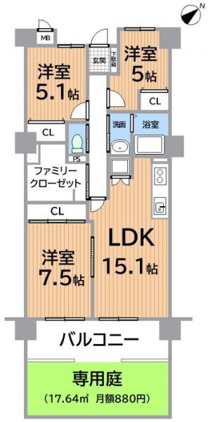 中古マンション 春日井市浅山町2丁目 JR中央本線春日井駅 1690万円