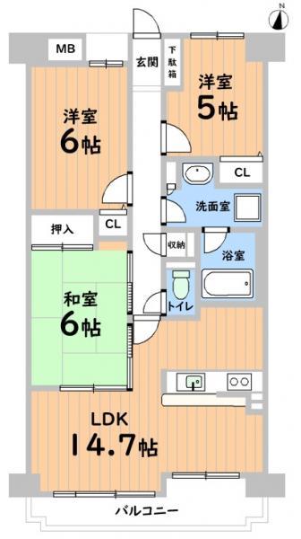 中古マンション 春日井市八光町1丁目 JR中央本線勝川駅 2690万円