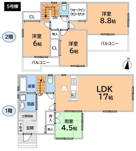 新築戸建 春日井市上条町2丁目 JR中央本線春日井駅 3590万円