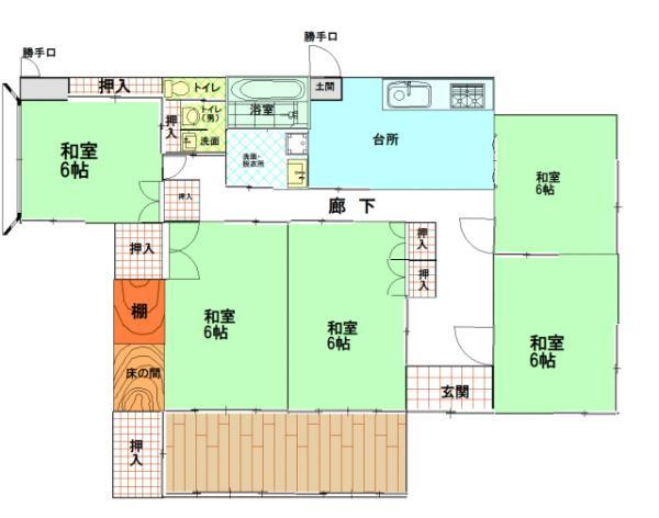 中古戸建 鹿屋市串良町上小原5409 JR日南線志布志駅 620万円