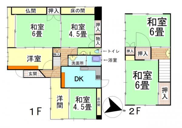 中古戸建 鹿屋市曽田町4997-1 JR日南線志布志駅 470万円