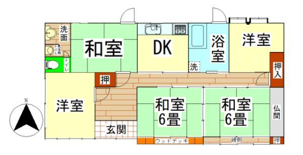 中古戸建 鹿屋市串良町下小原 JR日南線志布志駅 1100万円