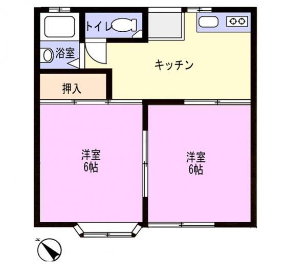 アパート 千葉県佐倉市上志津1644-37 京成本線志津駅 4.7万円