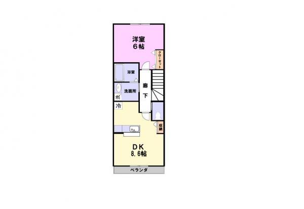 アパート 千葉県佐倉市上座559-32 京成本線ユーカリが丘駅 6.3万円