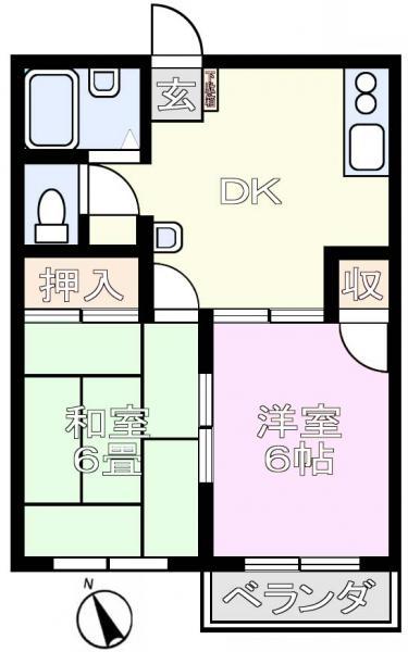 アパート 千葉県佐倉市臼井田2384-2 京成本線京成臼井駅 4.3万円