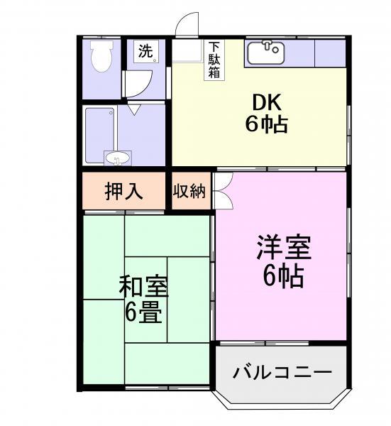アパート 千葉県佐倉市南臼井台7-13 京成本線京成臼井駅 4万円