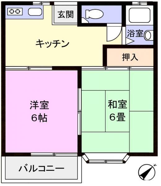 アパート 千葉県佐倉市上志津1644-37 京成本線志津駅 4.5万円