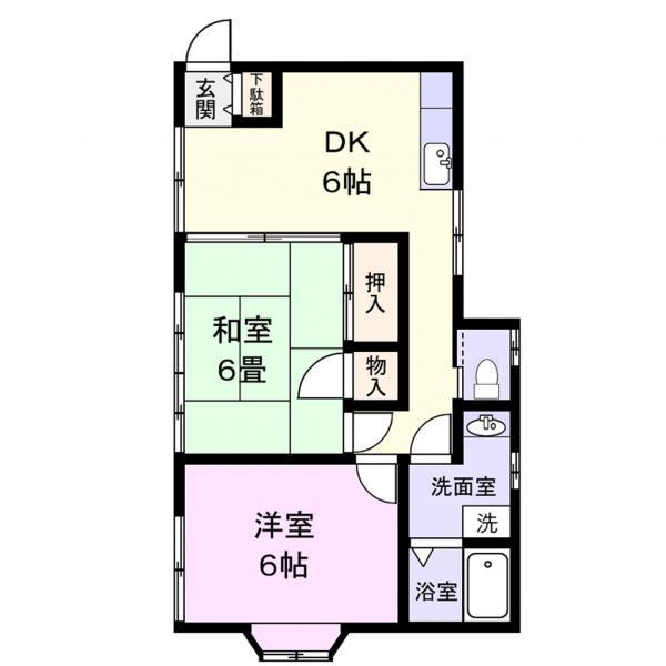 アパート 千葉県佐倉市臼井1409 京成本線京成臼井駅 3.8万円