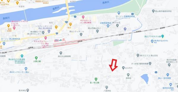 土地 津山市横山76-6 JR姫新線津山駅 150万円