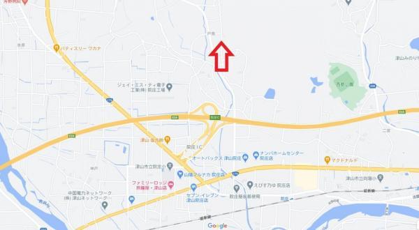 土地 津山市戸島248-6 JR姫新線院庄駅 850万円