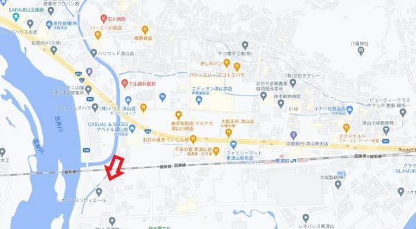 土地 津山市川崎 JR姫新線東津山駅 3500万円