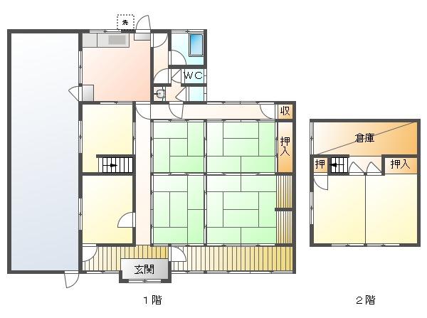 中古戸建 津山市大吉 因美線美作滝尾駅 480万円