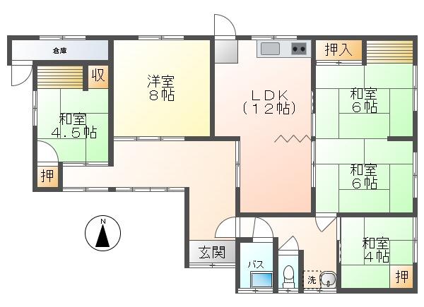 中古戸建 津山市総社 JR姫新線津山駅 680万円