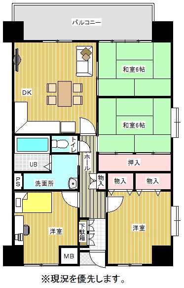中古マンション 北九州市門司区稲積1丁目12-15 駅 830万円