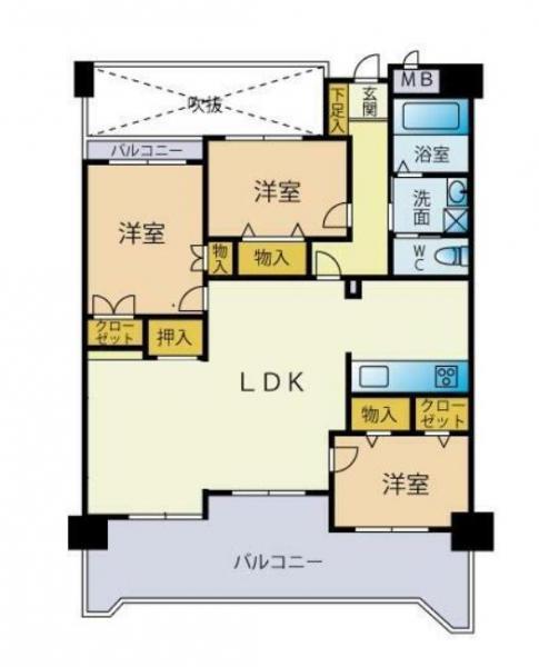 中古マンション 北九州市門司区清見3丁目 駅 1698万円
