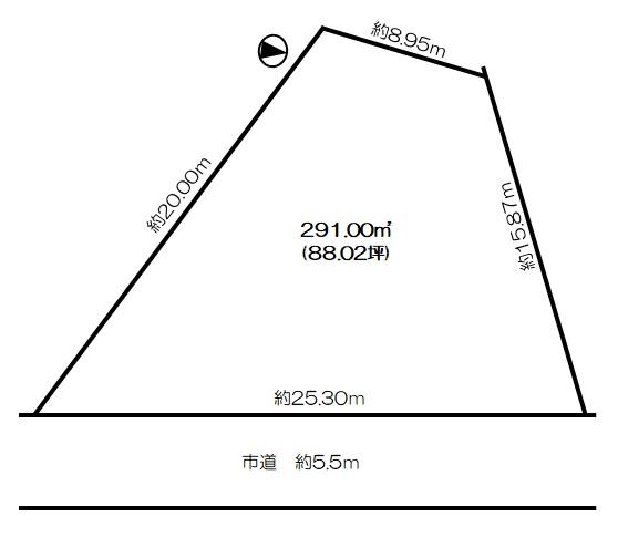 土地 富山市千原崎1丁目 富山ライトレール蓮町駅 550万円