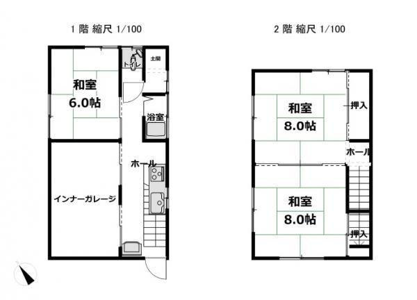 中古戸建 富山市婦中町下轡田 高山本線速星駅 1050万円