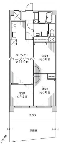 中古マンション 仙台市青葉区葉山町 JR仙山線北仙台駅 1190万円