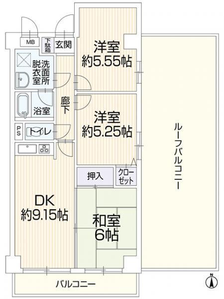中古マンション 仙台市宮城野区新田5丁目 JR仙石線小鶴新田駅 1599万円