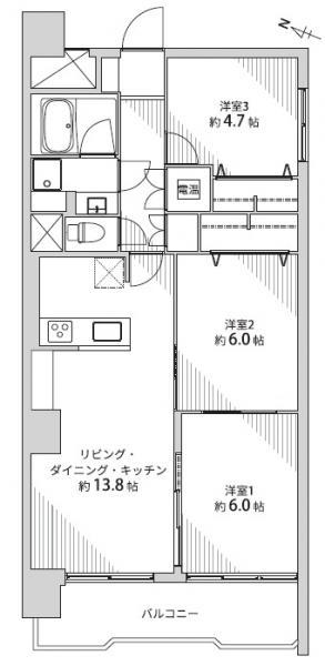 中古マンション 仙台市宮城野区榴ケ岡 JR仙石線榴ヶ岡駅 2190万円