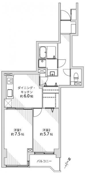 中古マンション 仙台市青葉区東照宮1丁目 JR仙山線東照宮駅 1690万円