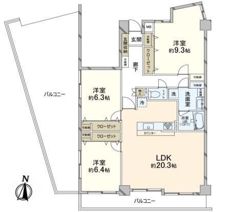 中古マンション 葛飾区堀切3丁目 京成本線堀切菖蒲園駅 3180万円