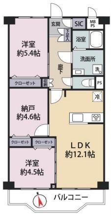 中古マンション 葛飾区白鳥4丁目 京成本線お花茶屋駅 2680万円