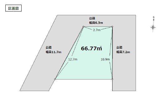 土地 葛飾区東立石3丁目 京成押上線京成立石駅 3480万円
