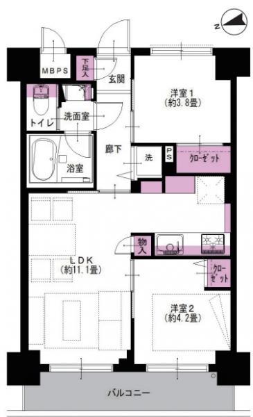 中古マンション 葛飾区白鳥2丁目 京成本線お花茶屋駅 2390万円