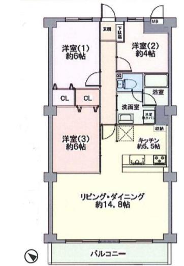 中古マンション 葛飾区新宿5丁目 千代田常磐線金町駅 3180万円