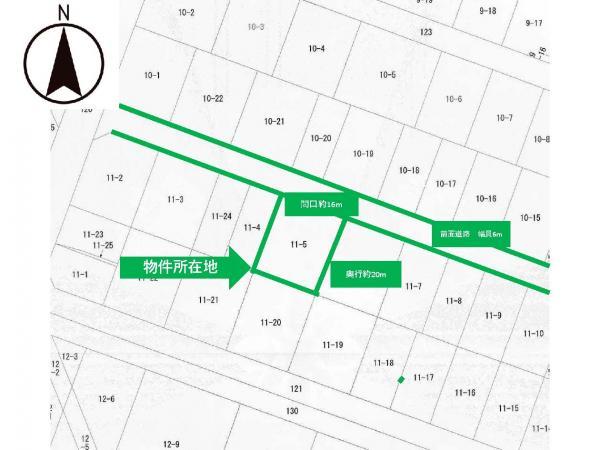土地 山形県酒田市北新橋1丁目11-5 JR羽越本線酒田駅 960万円