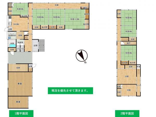 中古戸建 酒田市新堀字聖の宮107 JR羽越本線余目駅 500万円
