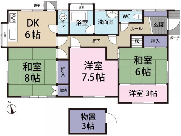 中古戸建 香取郡東庄町羽計 JR成田線下総橘駅 550万円