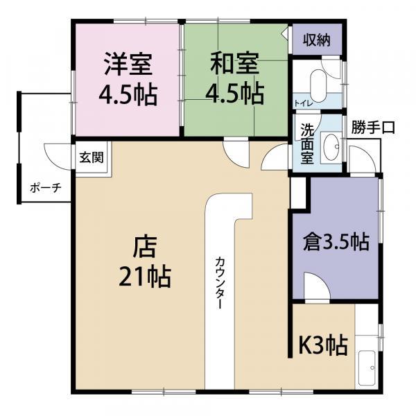 中古戸建 千葉県旭市井戸野985-3 JR総武本線干潟駅 750万円