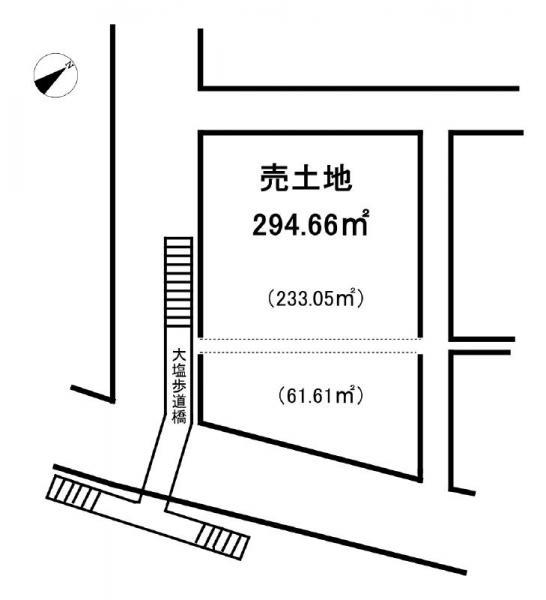 土地 兵庫県姫路市大塩町461番地11号 山陽電鉄本線大塩駅 1200万円